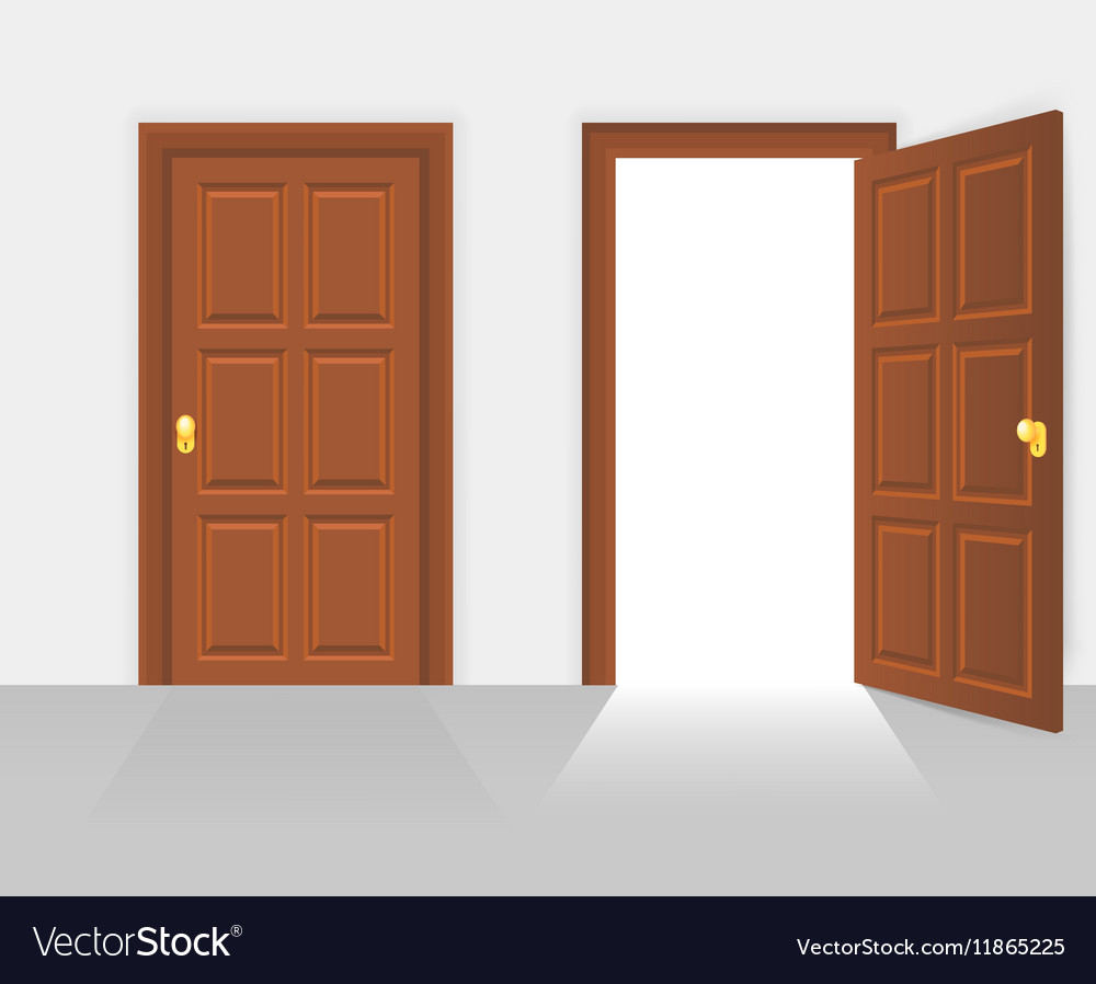 Le Meilleur Open And Closed House Front Door Royalty Free Vector Image Ce Mois Ci