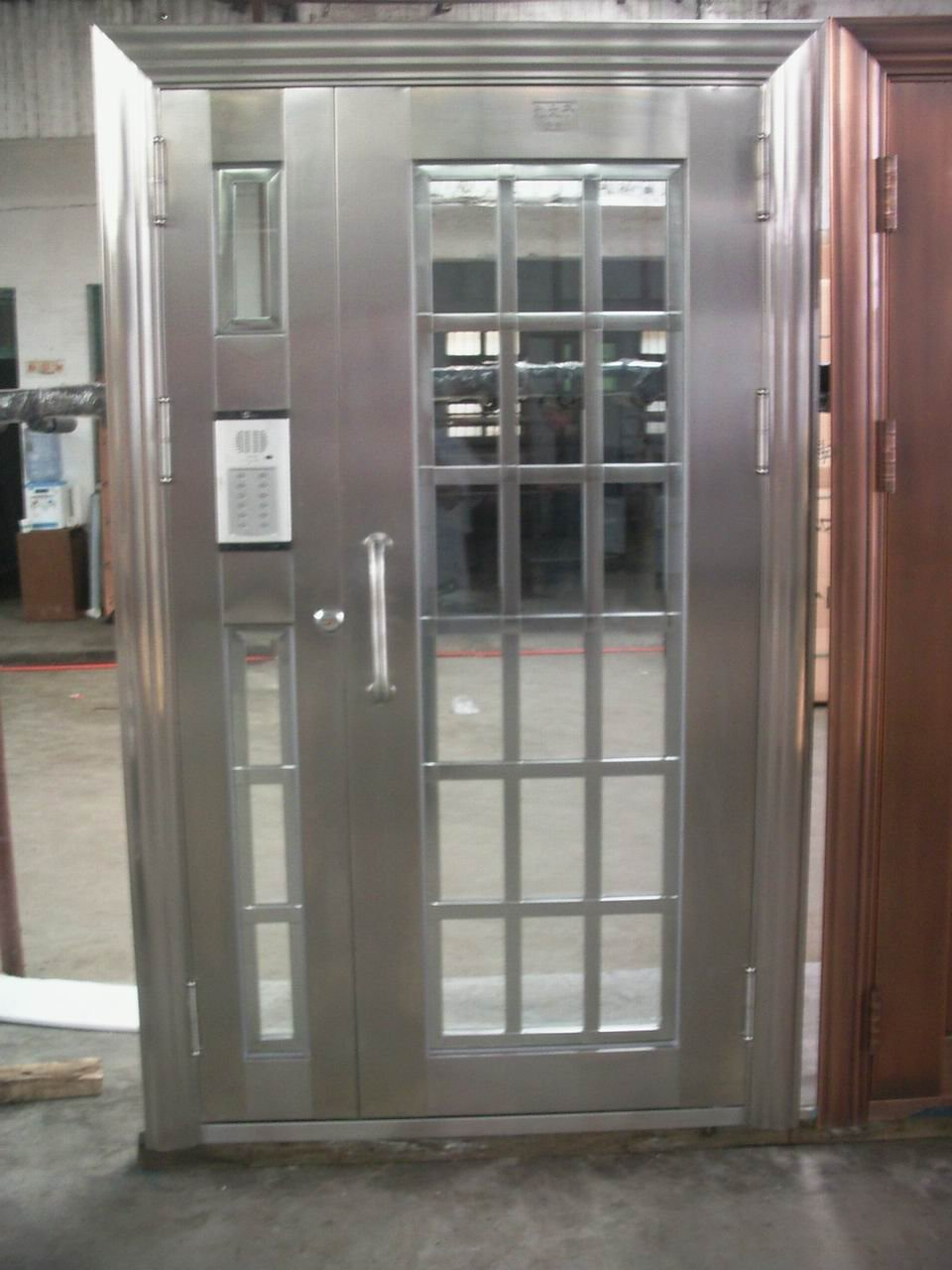 Le Meilleur Metal Exterior Doors With Solid Tempered Glass Interior Ce Mois Ci