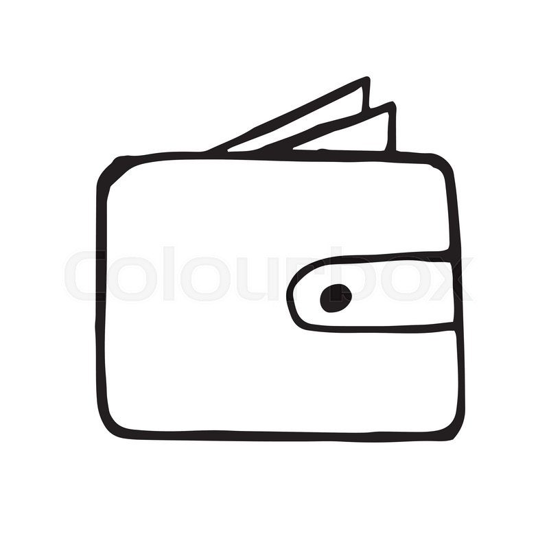 Le Meilleur Vector Wallet Doodle Drawing Hand Drawn Illustration Ce Mois Ci