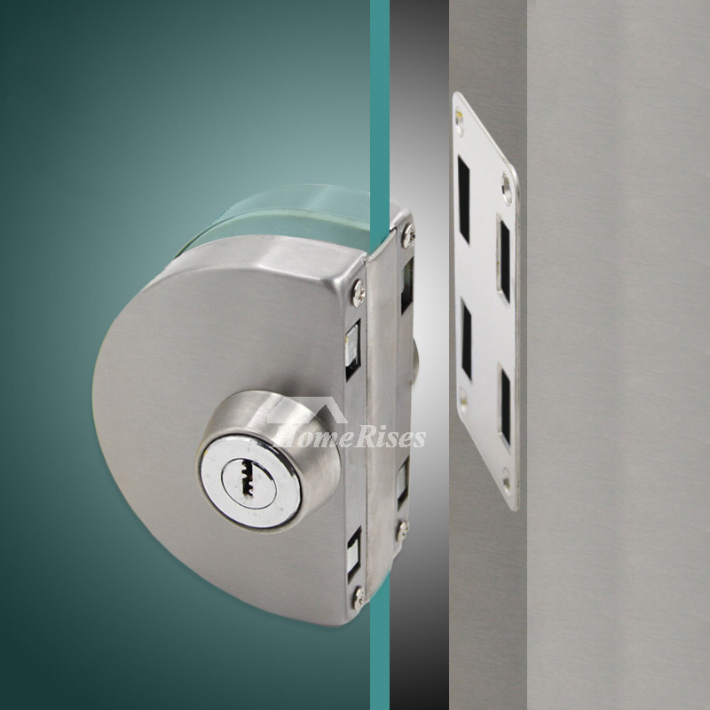 Le Meilleur Glass Door Lock Stainless Steel Brushed Single Brushed Ce Mois Ci