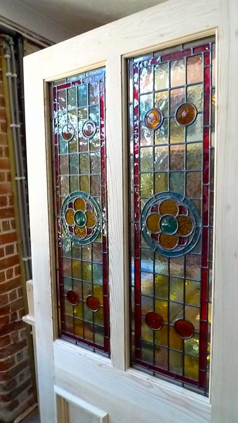 Le Meilleur A Beautiful Victorian Style 2 Panel Stained Glass Front Ce Mois Ci