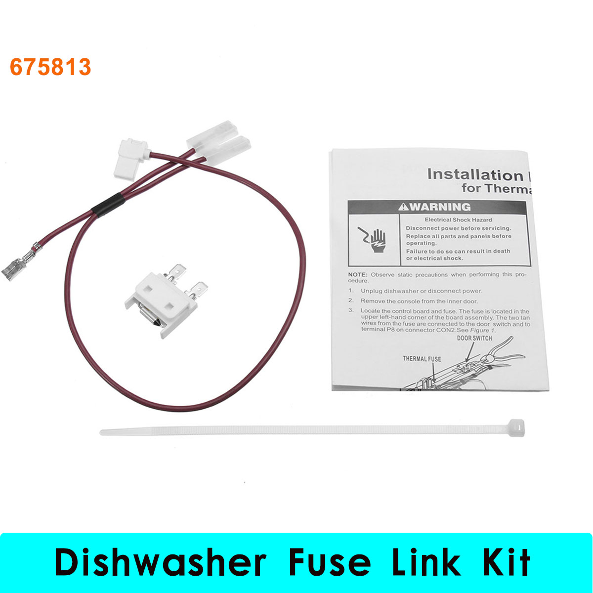 Le Meilleur 675813 For Whirlpool Kenmore Dishwasher Thermal Fuse Link Ce Mois Ci