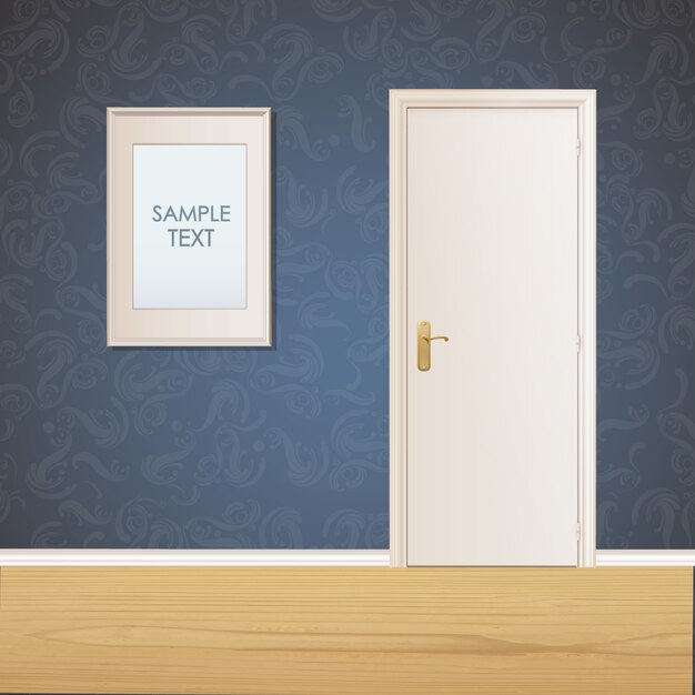 Le Meilleur Door And Frame On Wall Background Vector Free Download Ce Mois Ci