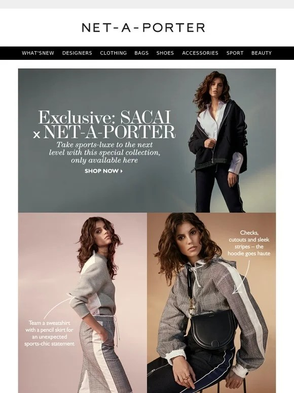 Le Meilleur Net A Porter Our Exclusive Sacai Capsule Is Here Milled Ce Mois Ci