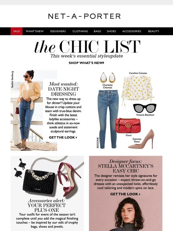 Le Meilleur Net A Porter What To Wear On Your Next Date Night Milled Ce Mois Ci