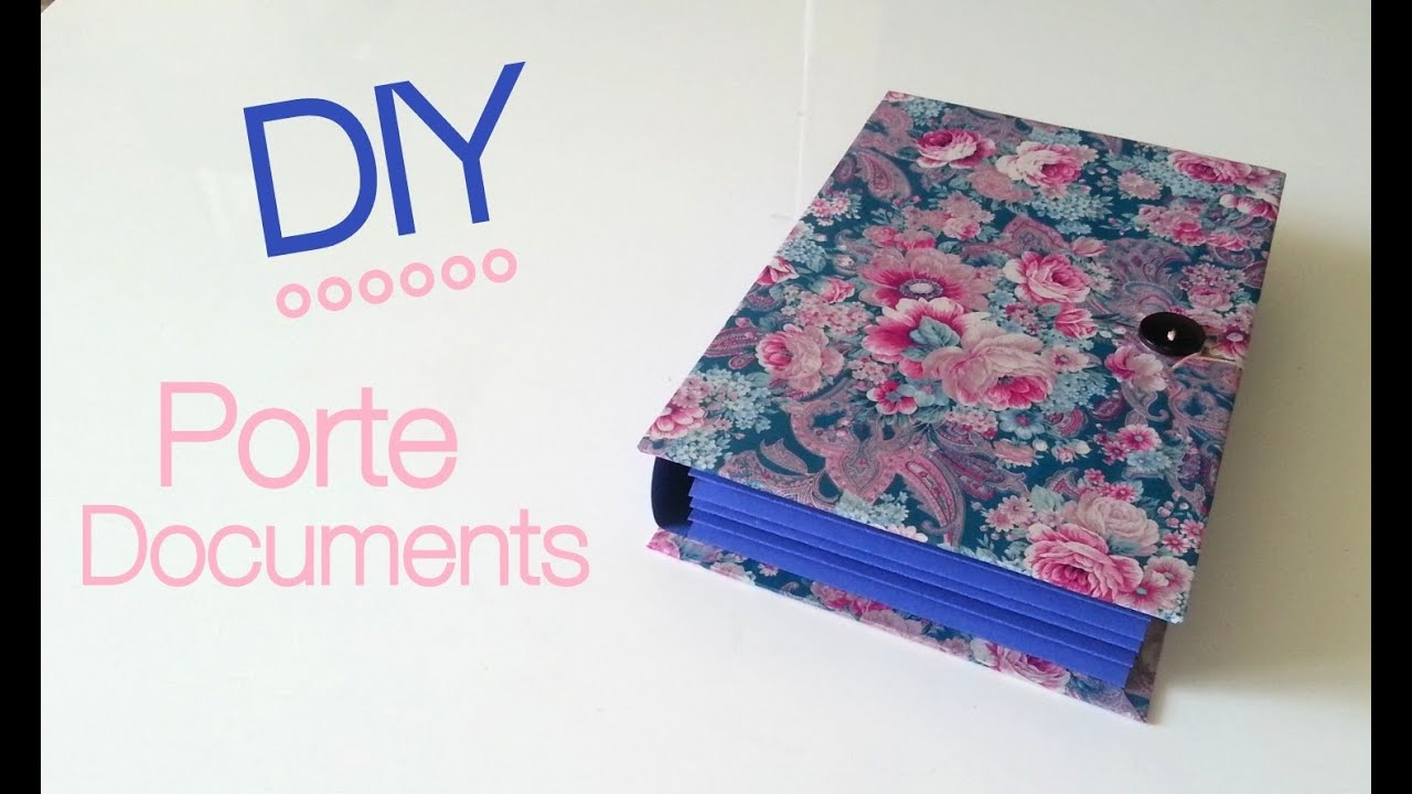 Le Meilleur Diy Back To School Fabriquer Un Porte Documents Youtube Ce Mois Ci
