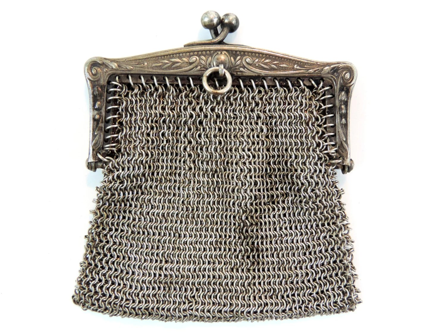 Le Meilleur French Vintage Small Chatelaine Coin Purse French Vintage Ce Mois Ci