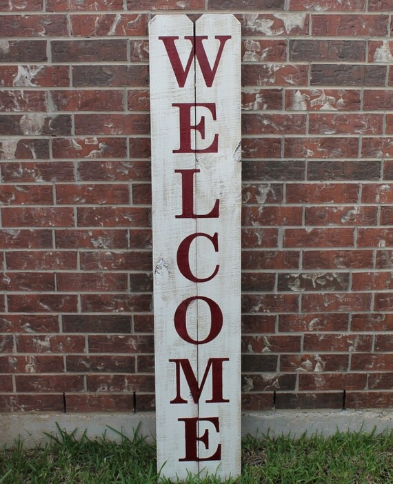 Le Meilleur Welcome Sign For Front Door 60 X 11 Wood Sign Ce Mois Ci