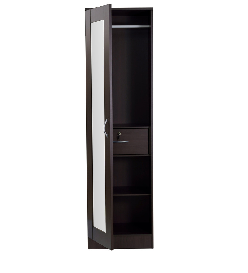 Le Meilleur Buy Namito One Door Wardrobe With Mirror In Chocolate Ce Mois Ci