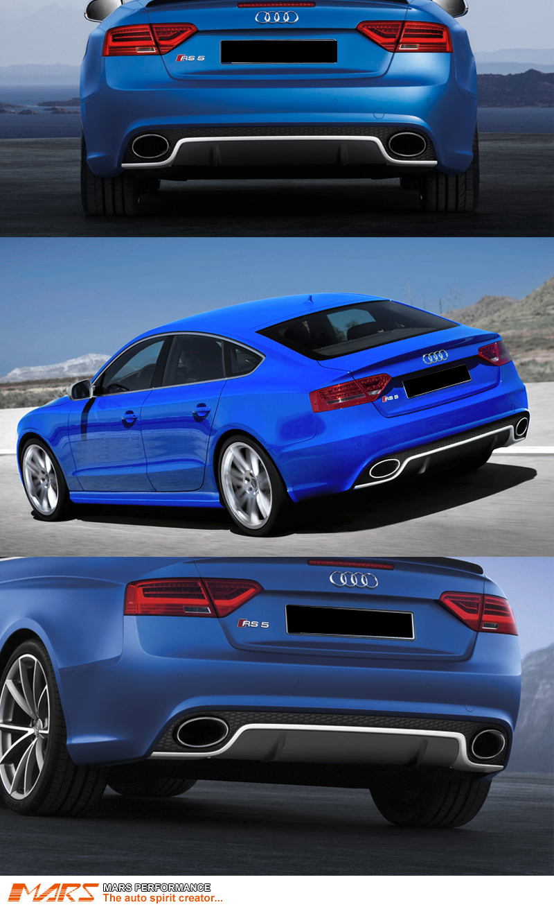 Le Meilleur Rs5 Style Rear Bumper Bar With Twin Exhaust Tips For Audi Ce Mois Ci