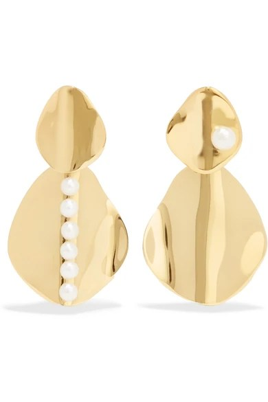 Le Meilleur Cornelia Webb Gold Plated Pearl Earrings Net A Porter Com Ce Mois Ci