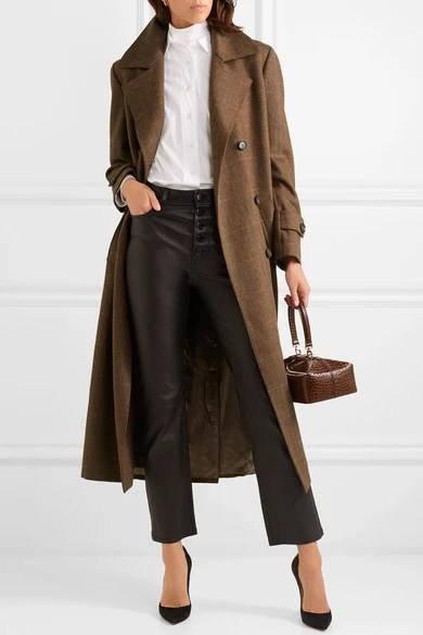 Le Meilleur Giuliva Heritage Collection Christie Checked Wool Coat Ce Mois Ci