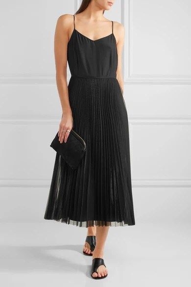 Le Meilleur Victoria Victoria Beckham Silk Satin And Pleated Tulle Ce Mois Ci