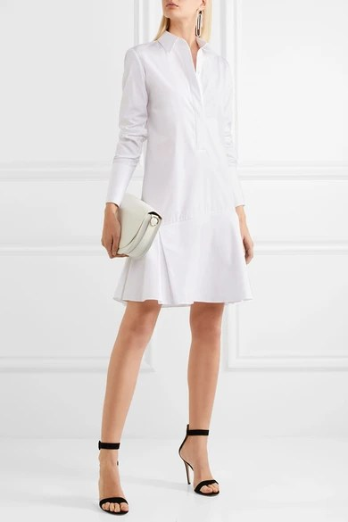 Le Meilleur Victoria Victoria Beckham Pleated Cotton Poplin Dress Ce Mois Ci