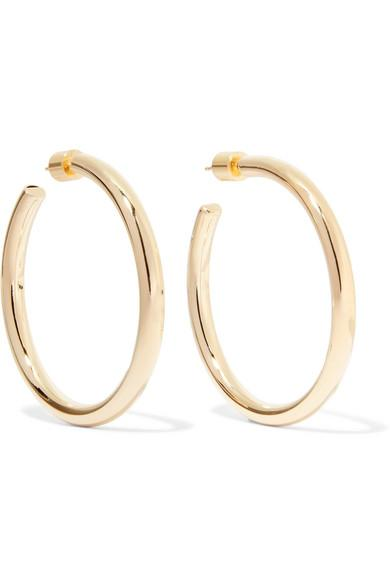 Le Meilleur Jennifer Fisher Baby Lilly Gold Plated Hoop Earrings Ce Mois Ci