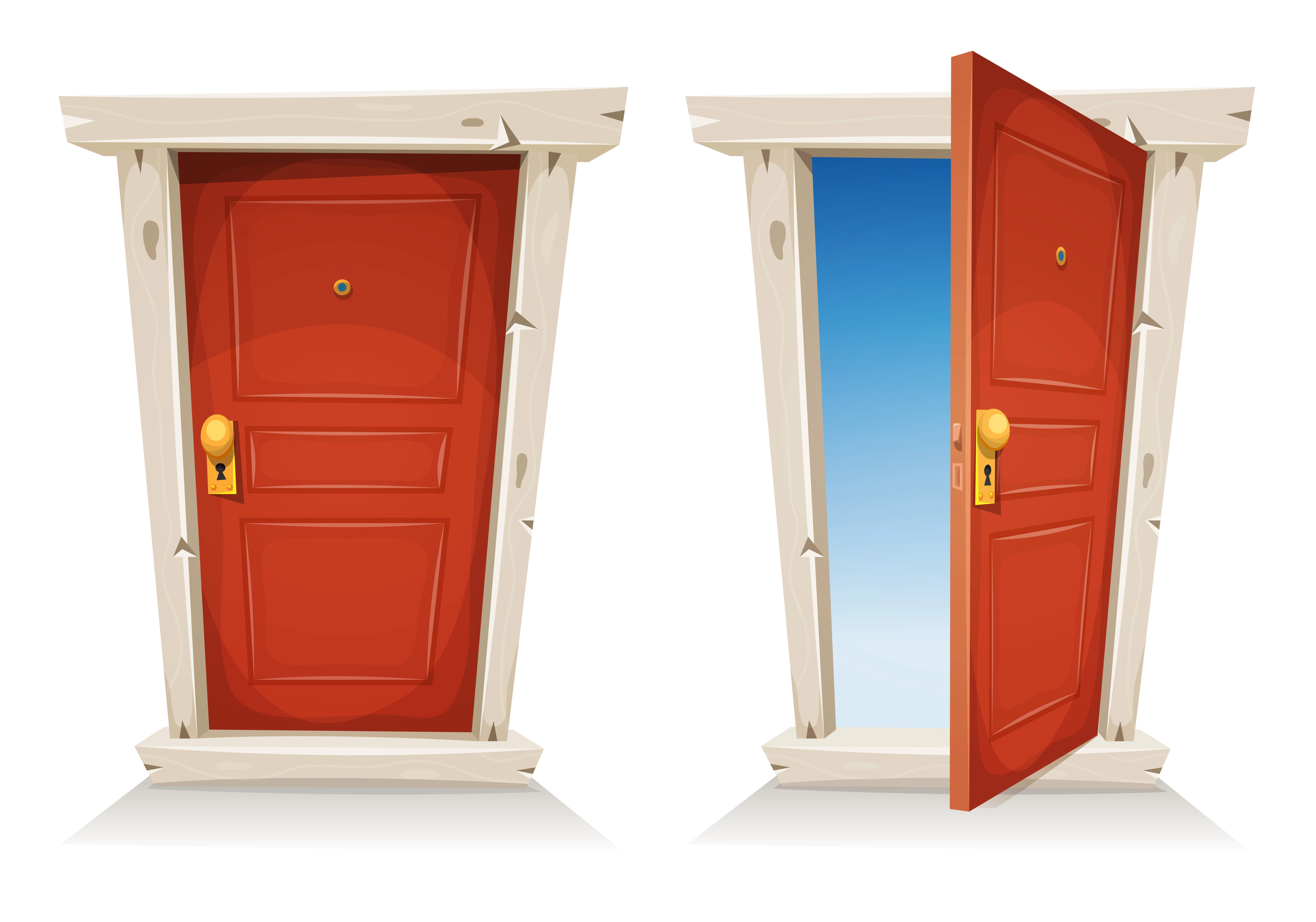Le Meilleur Red Door Open And Closed Download Free Vector Art Stock Ce Mois Ci