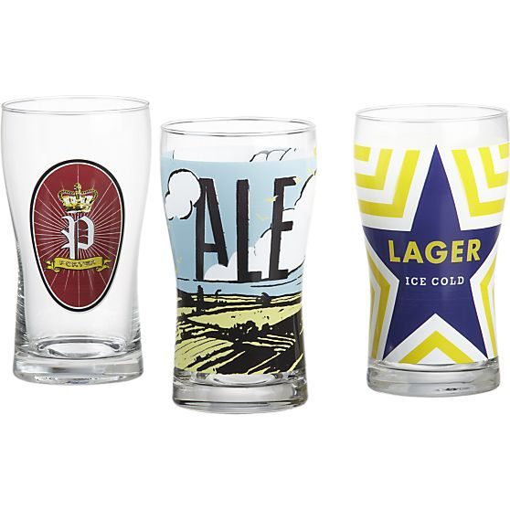 Le Meilleur Porter Lager And Ale Beer Glasses Crate And Barrel Ce Mois Ci