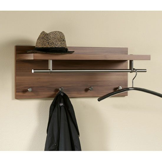 Le Meilleur Pablo3 Walnut Wall Mounted Hallway Stand Buy Coat Rack Ce Mois Ci
