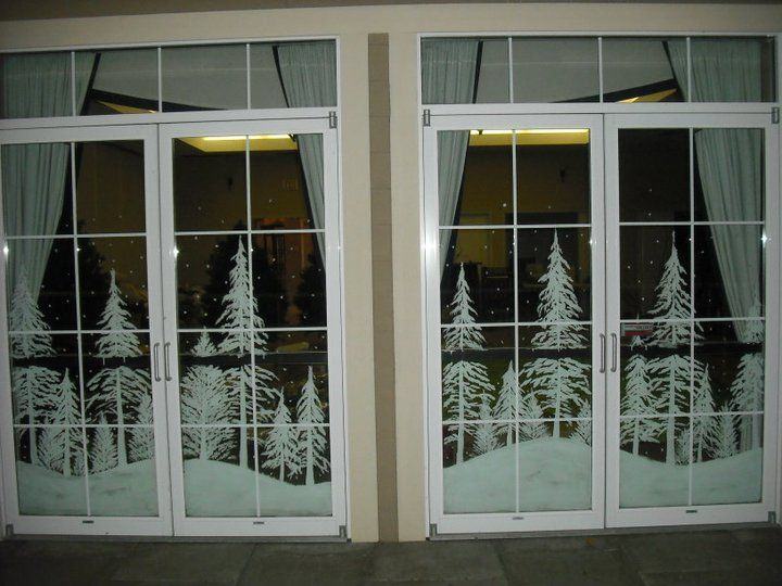 Le Meilleur Snowy Forest Double Doors By Window Painting On Deviantart Ce Mois Ci