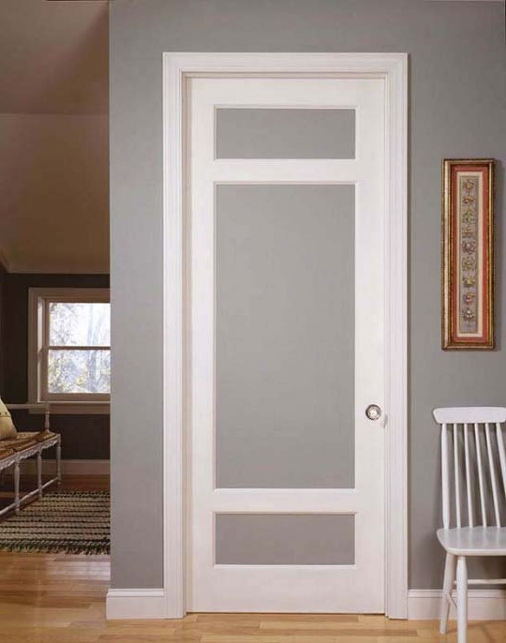 Le Meilleur Simple Vintage Styled Interior Doors With Frosted Glass Ce Mois Ci