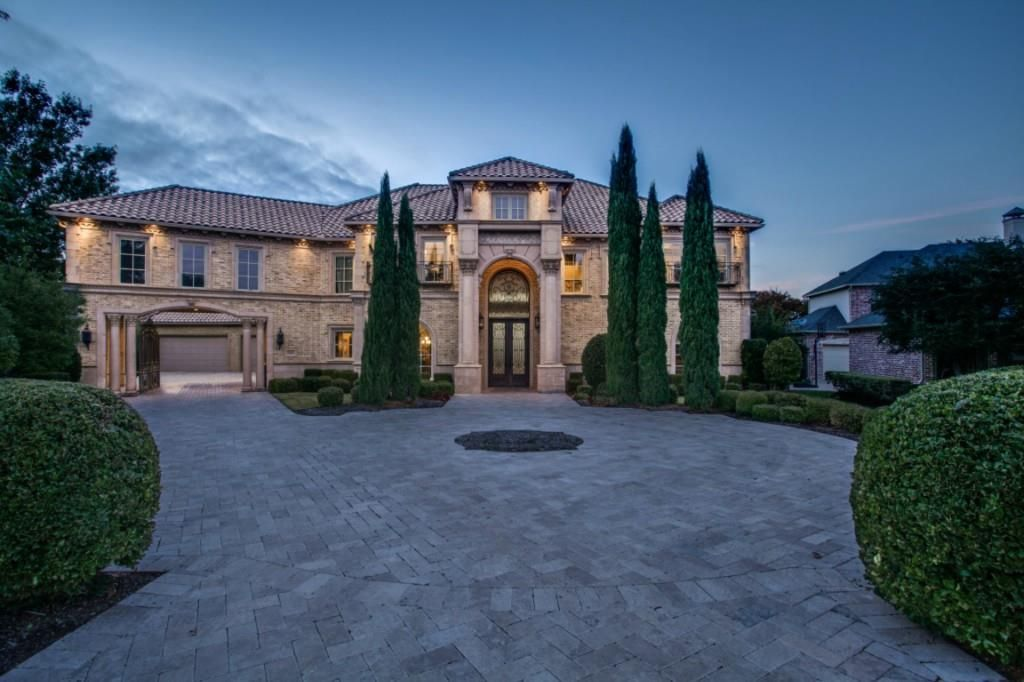 Le Meilleur Tuscan Style Luxury Home With Porte Cochere Entrance To Ce Mois Ci