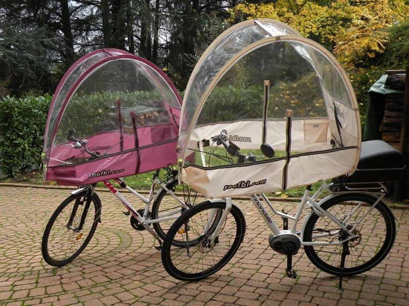 Le Meilleur Rain Cover Roofbi For Bicycle And Ebike Against Rain Cold Ce Mois Ci