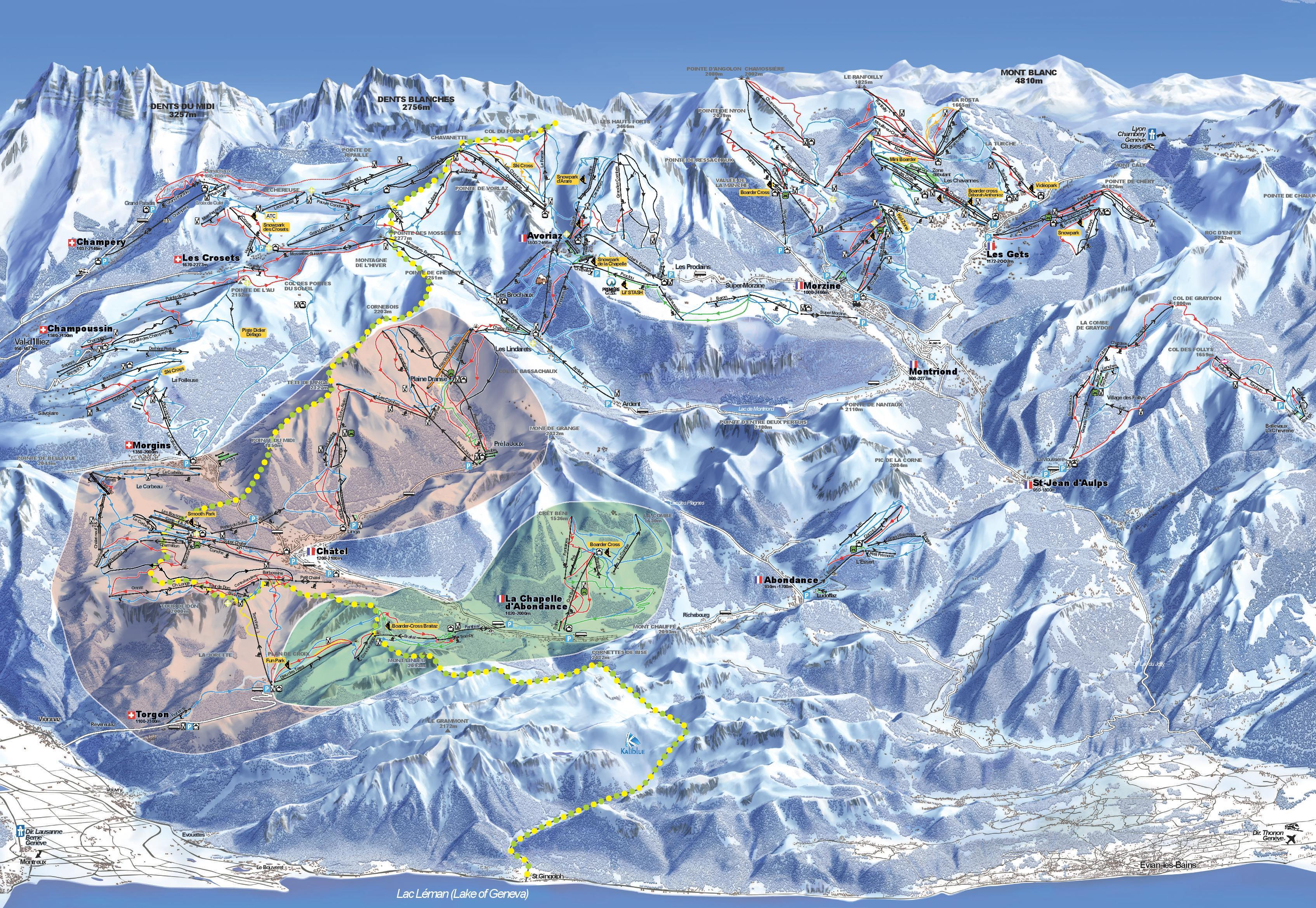 Le Meilleur La Chapelle D Abondance Piste Map Plan Of Ski Slopes And Ce Mois Ci
