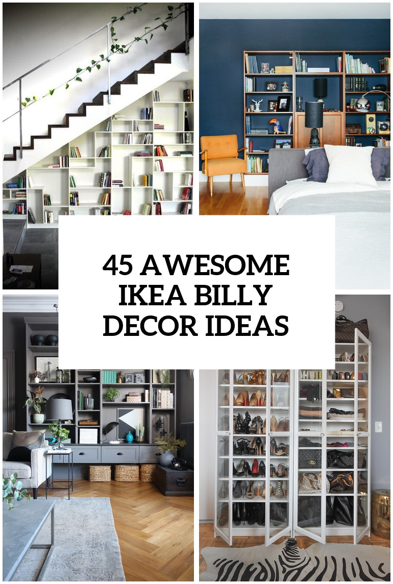 Le Meilleur 45 Awesome Ikea Billy Bookcases Ideas For Your Home Digsdigs Ce Mois Ci