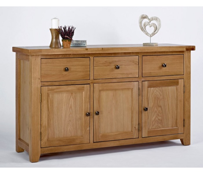 Le Meilleur Devon Oak 3 Door 3 Drawer Sideboard Ce Mois Ci