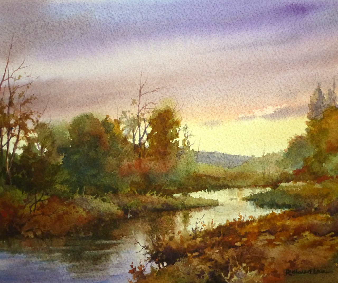 Demonstration Watercolor Paintings – Roland Lee