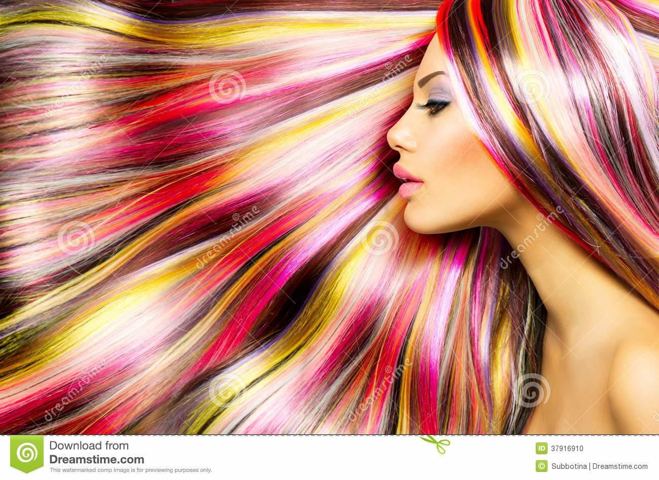 The Best Girl With Colorful Dyed Hair Stock Photo Image 37916910 Pictures