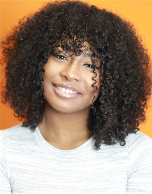 The Best Jaelah – Improved Malaysian Curly Full Lace Wig With Bangs Pictures