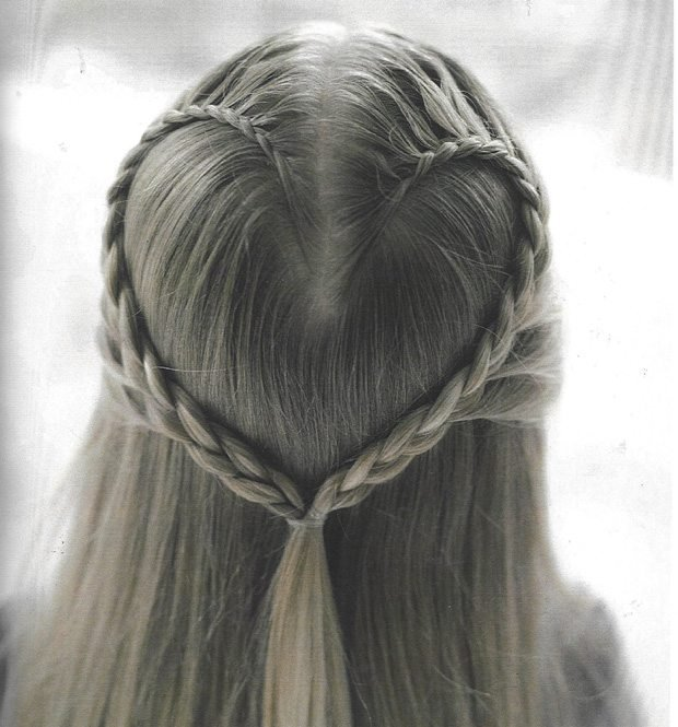 The Best Valentine Hairstyle How To Make A Heart Braid Akron Pictures