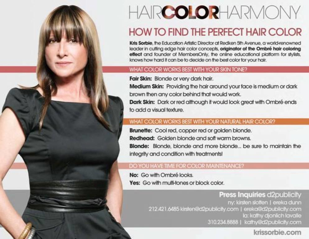 The Best Find Your Perfect Hair Color Thanks To Redken And Kris Sorbie Advice Sisters Pictures