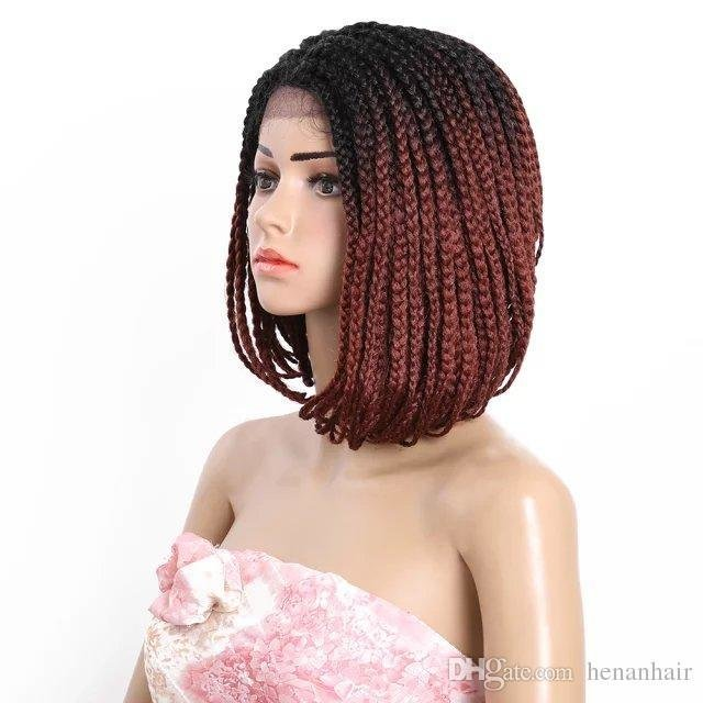 The Best 14 Inch Ombre Color 350 Bob Hair Style Box Braid Hand Pictures