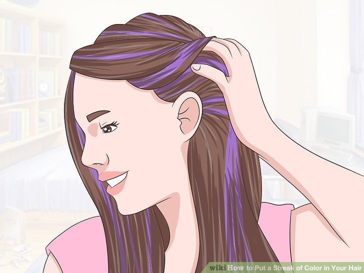 The Best 4 Ways To Put A Streak Of Color In Your Hair Wikihow Pictures