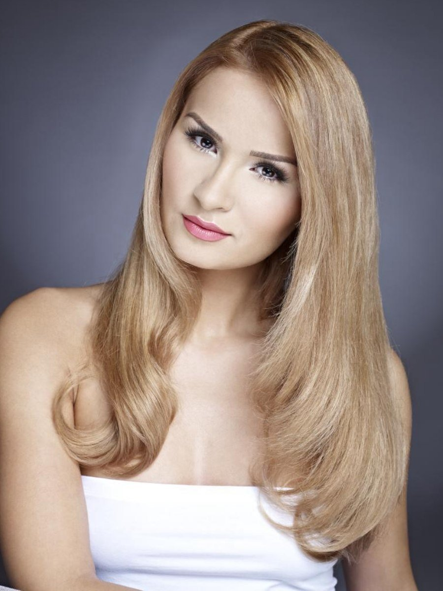 The Best Sleek Long Hair With A Face Framing Curve And A Tapered Angle Pictures
