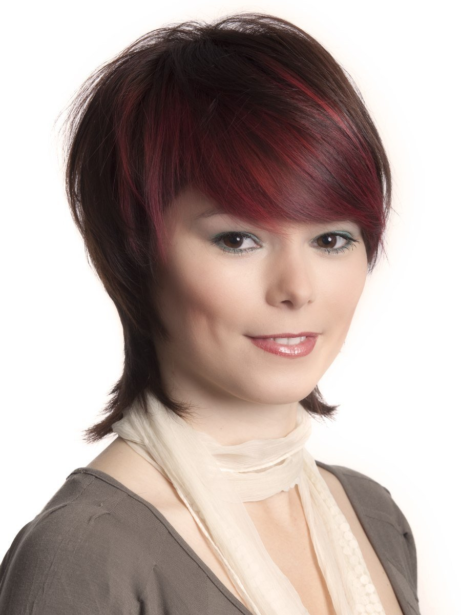 The Best Trendy Short Hairstyle With A Longer Nape Undercut And Smooth Fringe Pictures