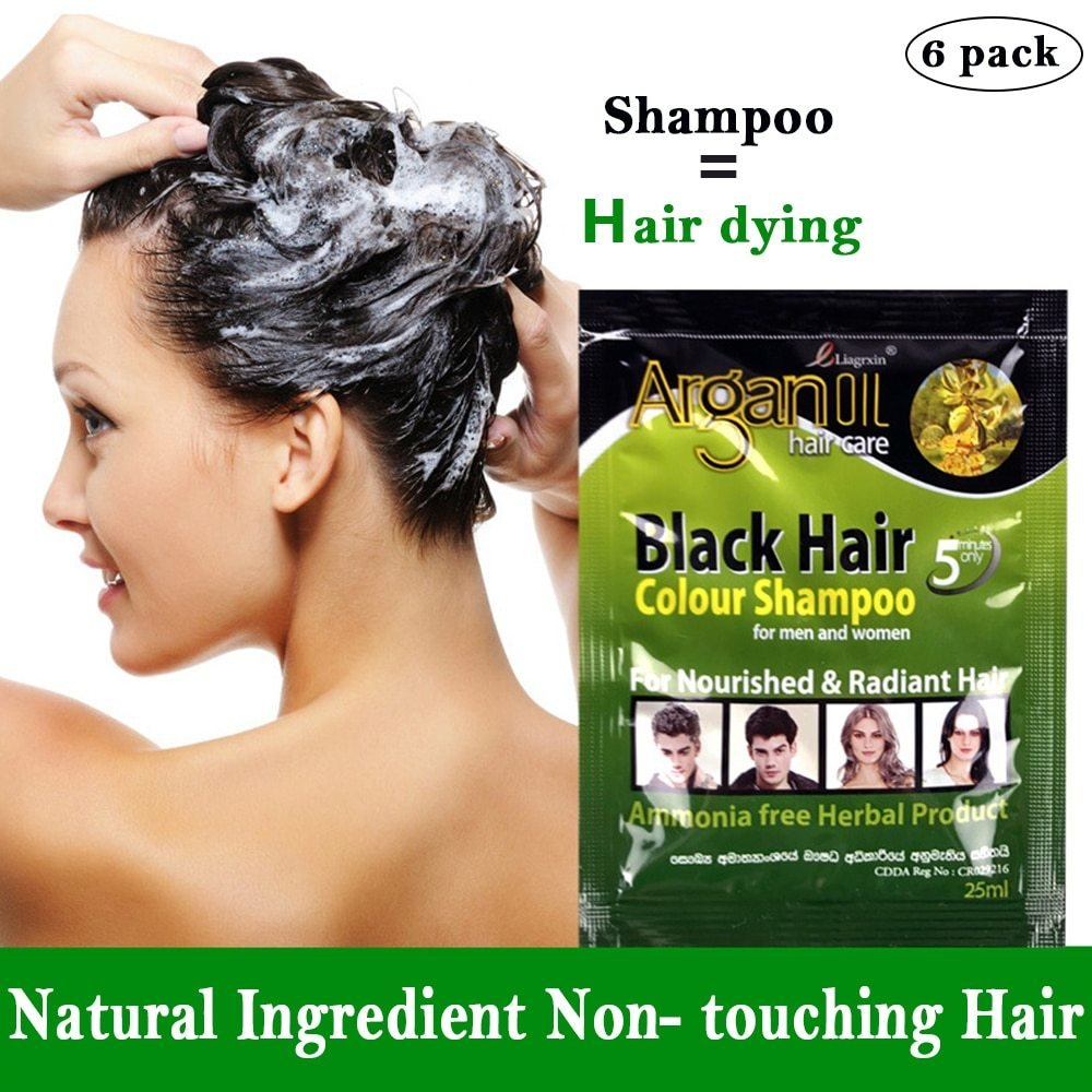 The Best 6 Pcs Black Hair Shampoo Grey Hair Removal Dye White Pictures