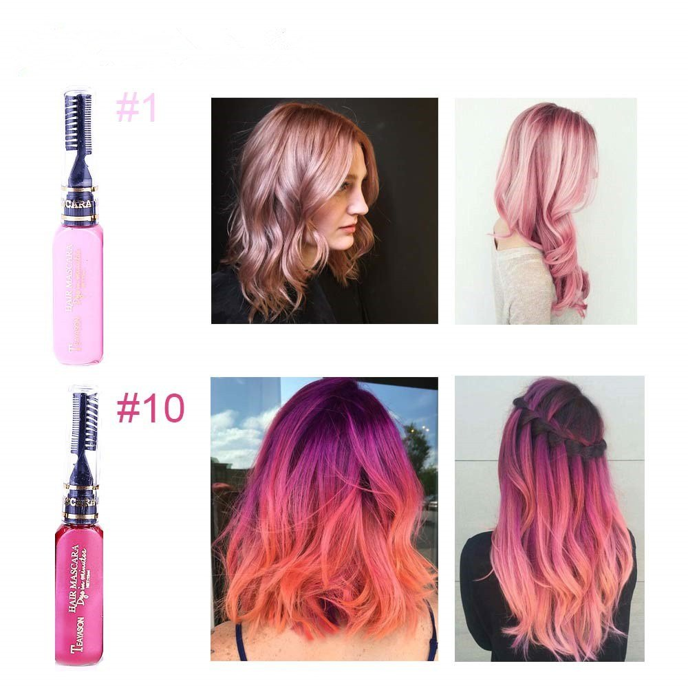 The Best 13 Colors One Off Hair Color Dye Temporary Non Toxic Diy Pictures