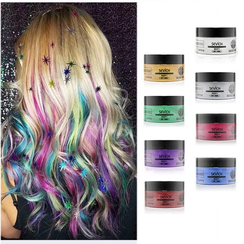 The Best Fashionunisex Color Hair Wax Dye Color Styling Temporary Pictures