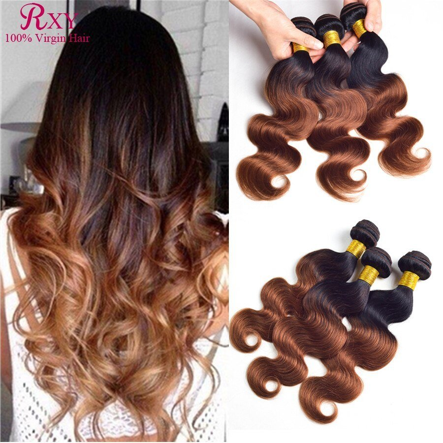 The Best Rxy Hair Ombre Brazilian Hair Extensions Body Wave 1B Pictures