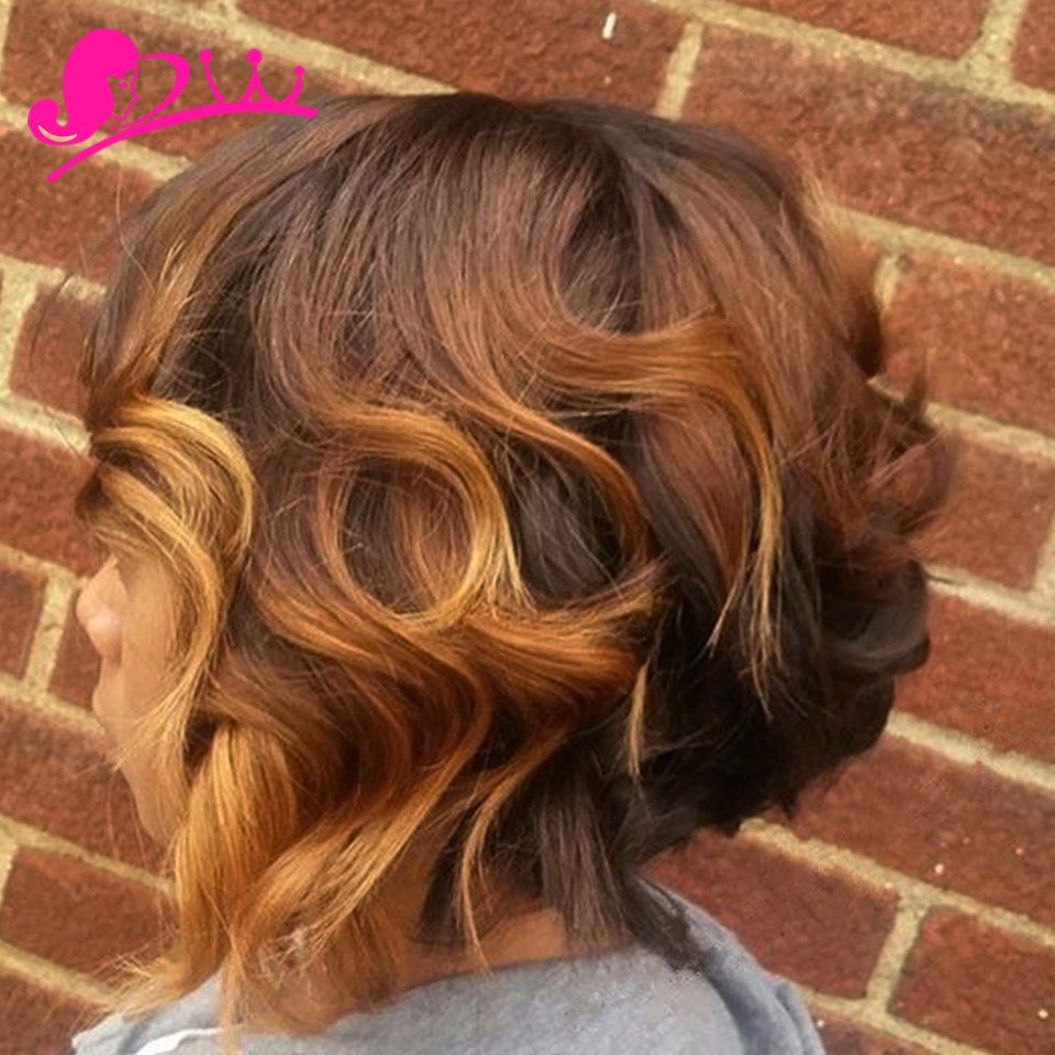 The Best Xuchang V*Rg*N Ombre Short Brazilian Loose Wave Hair Pictures