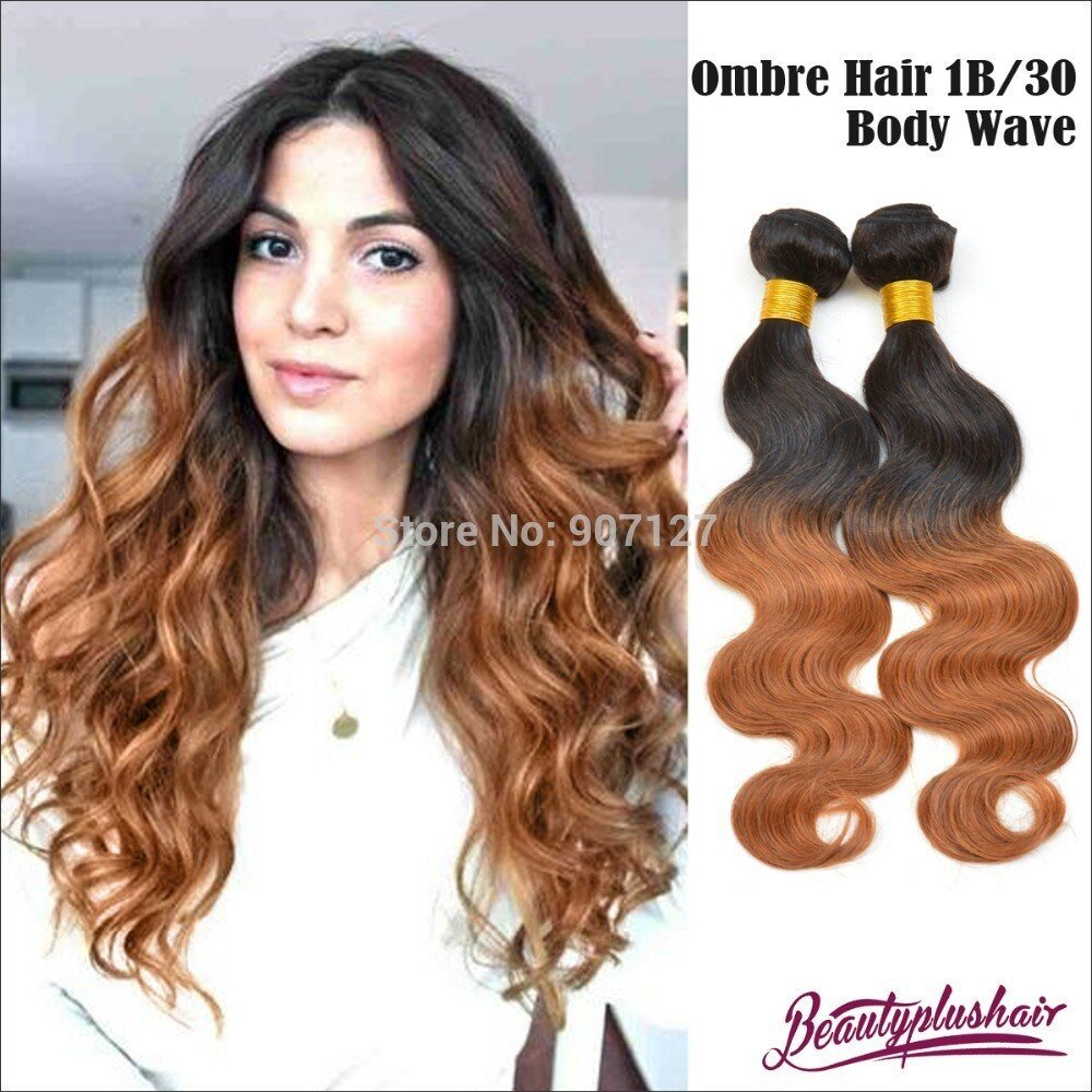 The Best 2Pcs Lot Ombre Brazilian Hair Weave Body Wave Brazilian Pictures