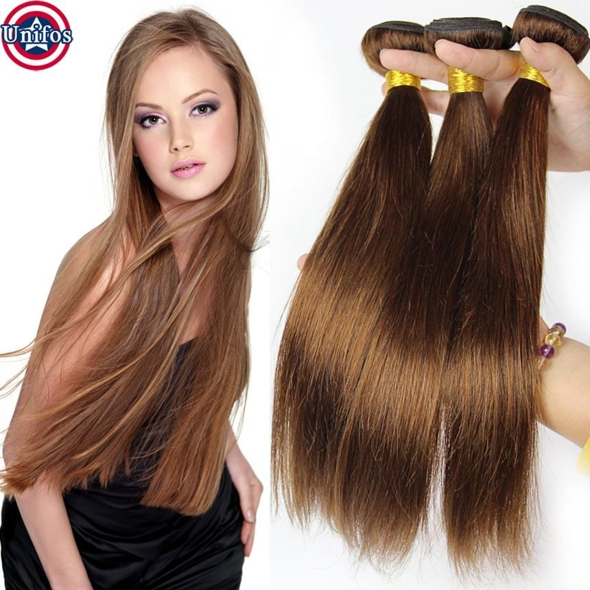 The Best Straight Light Brown Brazilian Hair Light Brown Hair Weave Pictures