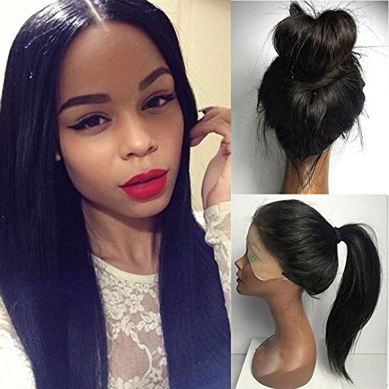 The Best Long Lace Front Synthetic Wigs Straight With Natural Pictures
