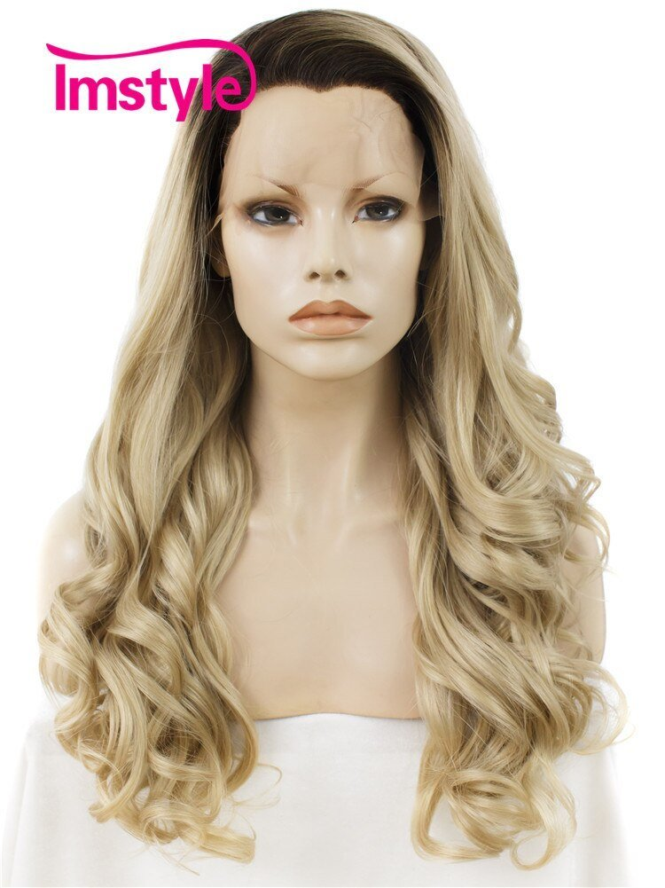The Best Aliexpress Com Buy Imstyle Long Wave Dark Root Blonde Pictures