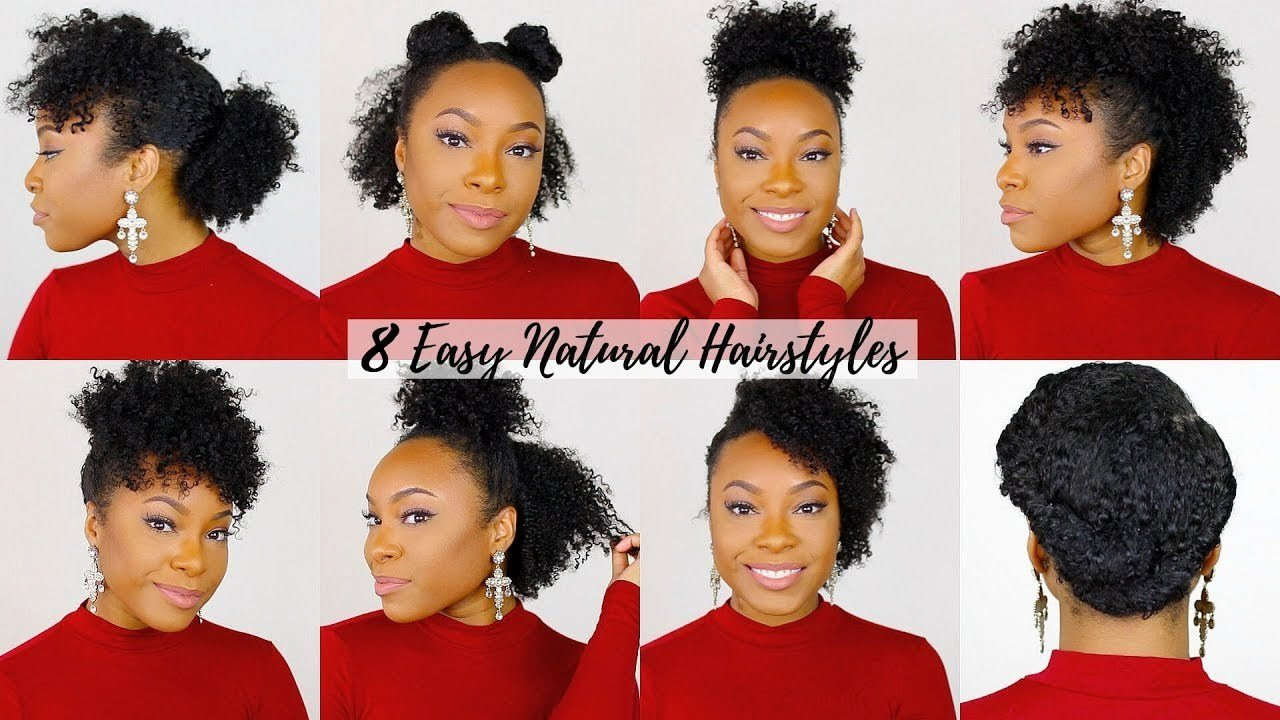 The Best 8 Quick Easy Hairstyles For Short Medium Natural Hair Pictures