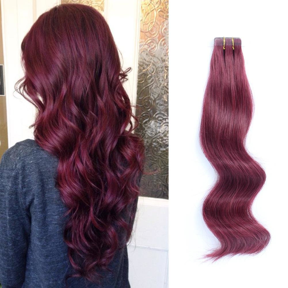 The Best Tape In Hair Extensions 530 Burgundy Pictures