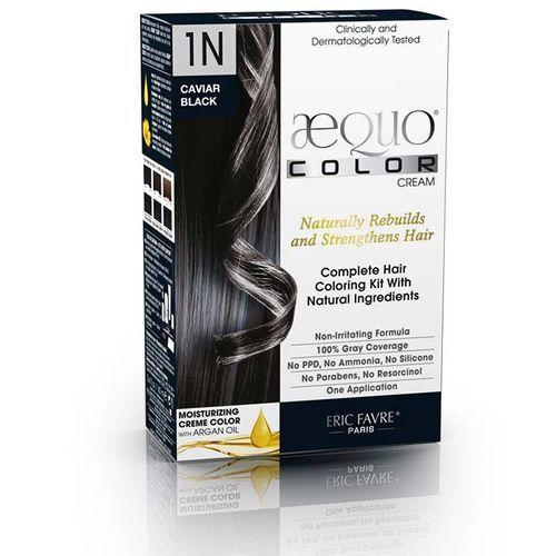 The Best Aequo Color Cream Natural Hair Color Black 1N Caviar Pictures